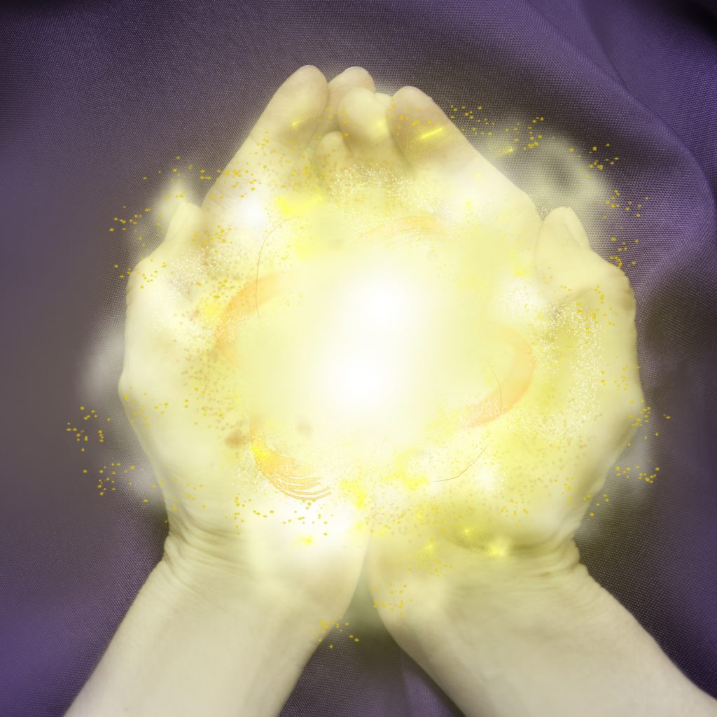 Healing Light Empath Reiki Magic Energy work hands